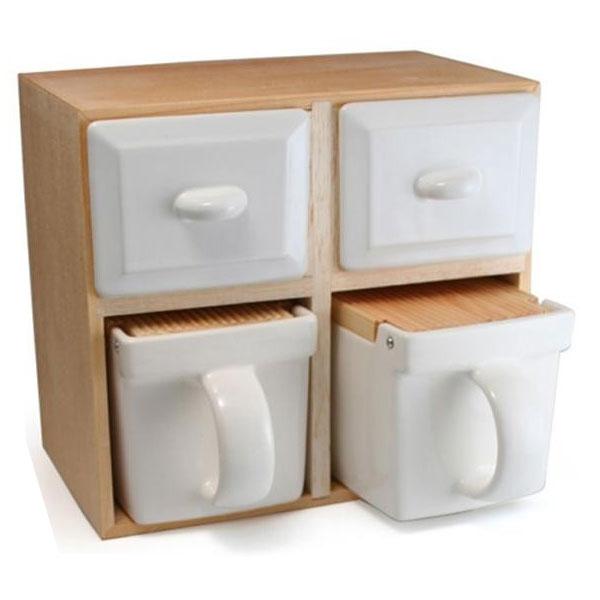 【クーポンあり】【送料無料】ZEROJAPAN(ゼロジャパン) ボックスコンテナ 2×2 BST-15 木 ストッカー ストレージ キッチン 容器 調味料 収納 ラック 陶器