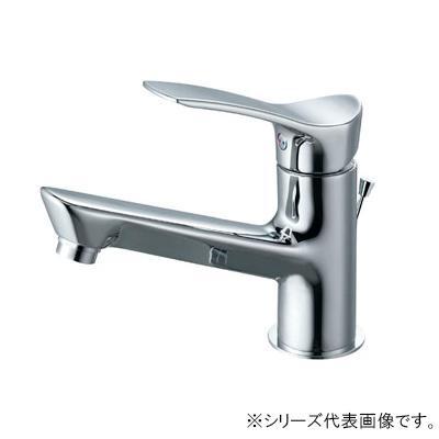【クーポンあり】【送料無料】三栄 SANEI COULE シングルワンホール洗面混合栓 寒冷地用 K4712PJK-13 吐水、止水が簡単に行えます。