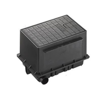 【クーポンあり】【送料無料】三栄 SANEI 散水栓ボックスセット 黒 R81-93S-D 散水栓ボックスのセット。