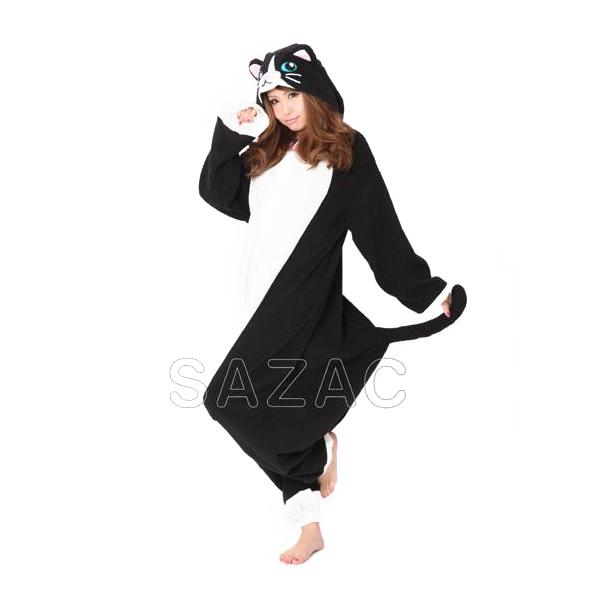 【クーポンあり】サザック フリースネコ着ぐるみ フリーサイズ 2638 可愛らしいネコの着ぐるみ☆