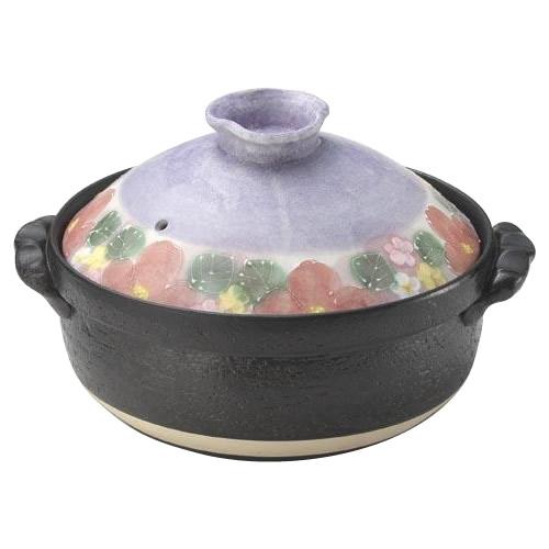 【クーポンあり】【送料無料】雅花化粧 IH土鍋 8号 31-15537 IHコンロで使える!日本製の土鍋。