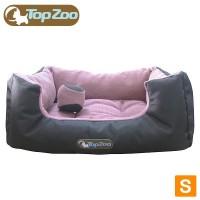 【クーポンあり】【送料無料】フランス TopZoo/トップズー ペットベッド ドゥドゥコージ キャンバスピンク S(W50×D38×H21cm) リバーシブルタイプのクッション♪
