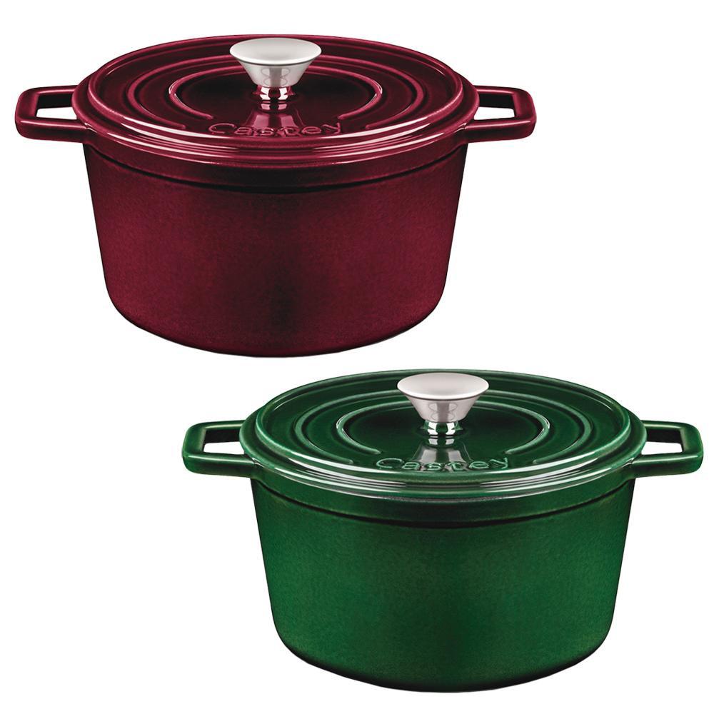 【クーポンあり】【送料無料】Castey(キャスティ) ENAMEL(エナメル) ココット 14 幅広い熱源に対応するキャスト鍋♪