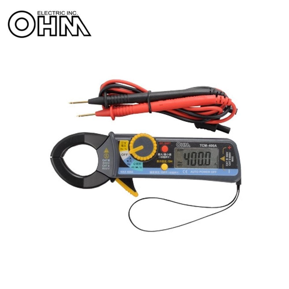 【クーポンあり】【送料無料】OHM デジタルクランプメーター TCM-400A スタンダードタイプのデジタルクランプメーター。