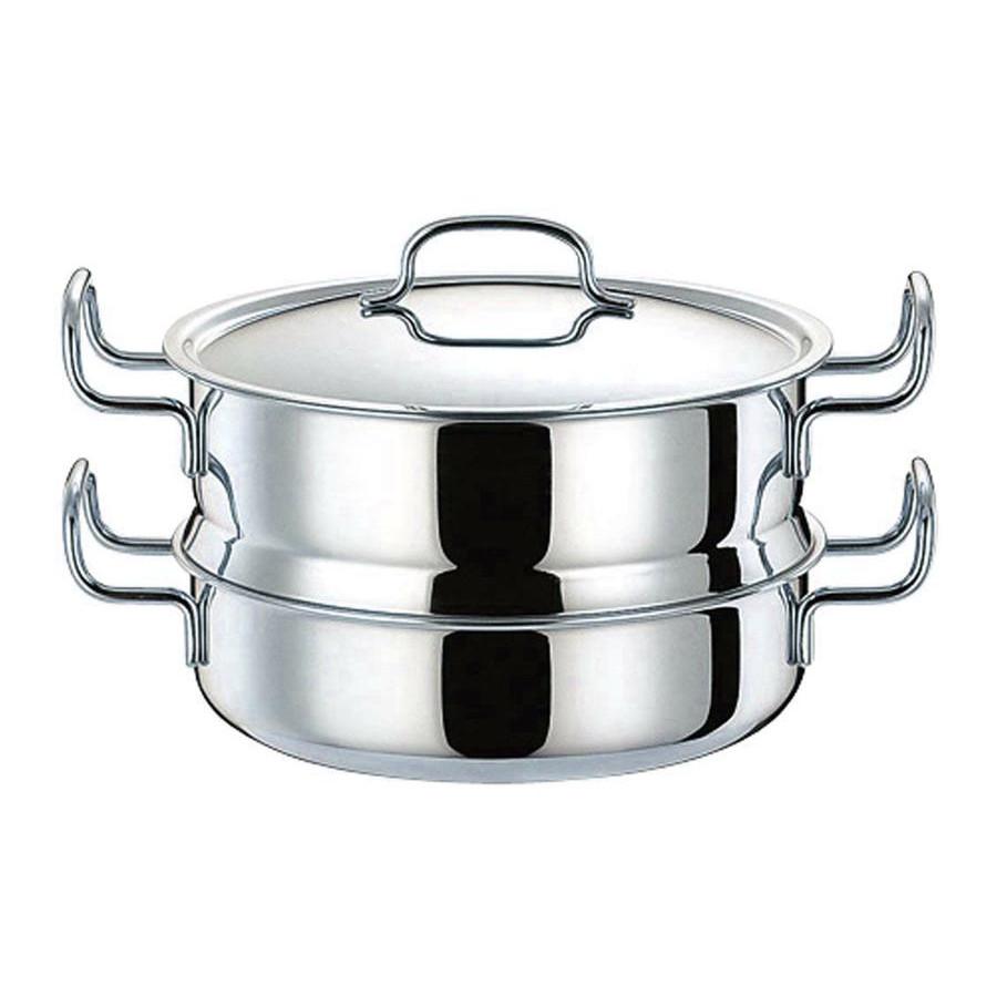 【クーポンあり】【送料無料】ジオ・プロダクト 蒸し器付鍋 25cm GEO-25M 0675007 熱がムラなく伝わる全面7層構造の蒸し器付鍋。
