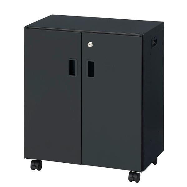 【クーポンあり】【送料無料】ナカバヤシ カギ付キャビネット セキュリティデスクターナ H600 ブラック ND-S722-BK デスク下に収まるコンパクトサイズ。