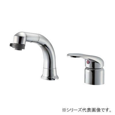 【クーポンあり】【送料無料】三栄 SANEI U-MIX シングルスプレー混合栓(洗髪用) 寒冷地用 K37110EJK-C-13