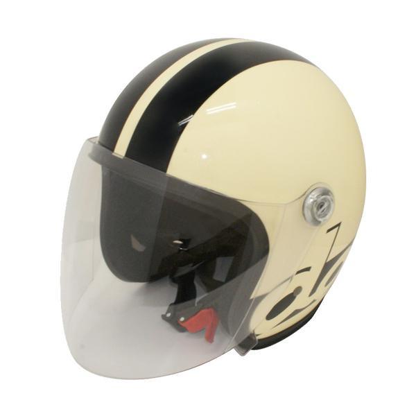 【クーポンあり】【送料無料】ダムトラックス(DAMMTRAX) JET-S DAMM&RAX dammtrax ヘルメット IVORY/BLACK シールドを搭載した人気のジェットヘルメット!!