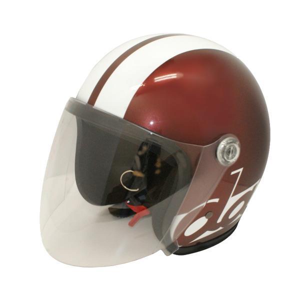 【クーポンあり】【送料無料】ダムトラックス(DAMMTRAX) JET-S DAMM&RAX dammtrax ヘルメット MAROON/WHITE シールドを搭載した人気のジェットヘルメット!!