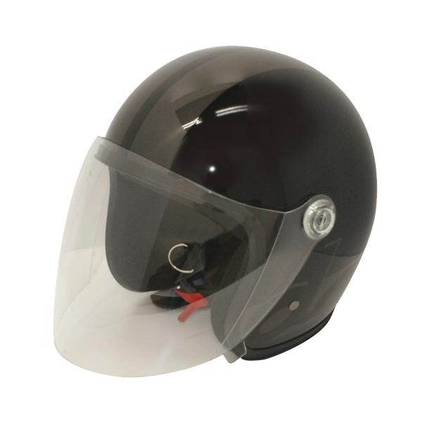 【クーポンあり】【送料無料】ダムトラックス(DAMMTRAX) JET-S DAMM&RAX dammtrax ヘルメット BLACK/GUNMETAL シールドを搭載した人気のジェットヘルメット!!