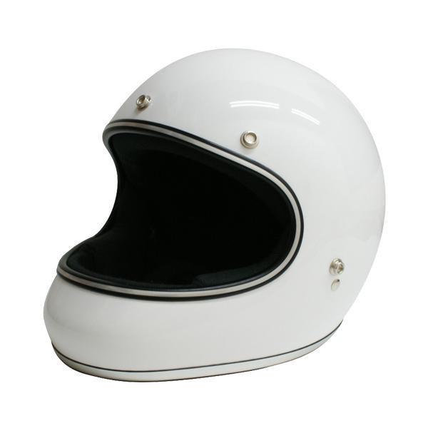 【クーポンあり】【送料無料】ダムトラックス(DAMMTRAX) アキラ ヘルメット WHITE M 視界開放型のフルフェイスヘルメット。
