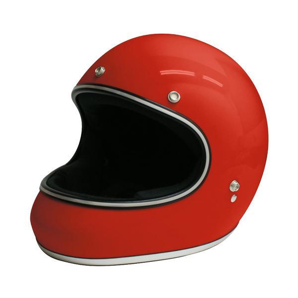 【クーポンあり】【送料無料】ダムトラックス(DAMMTRAX) アキラ ヘルメット RED M 視界開放型のフルフェイスヘルメット。
