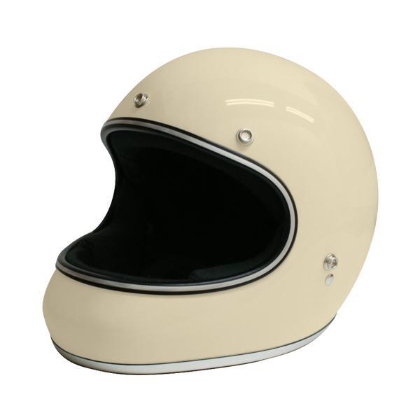【クーポンあり】【送料無料】ダムトラックス(DAMMTRAX) アキラ ヘルメット IVORY M 視界開放型のフルフェイスヘルメット。