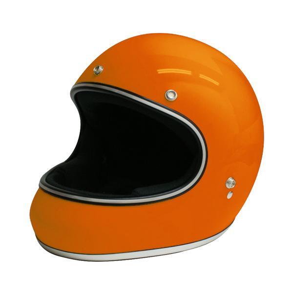 【クーポンあり】【送料無料】ダムトラックス(DAMMTRAX) アキラ ヘルメット ORANGE M 視界開放型のフルフェイスヘルメット。