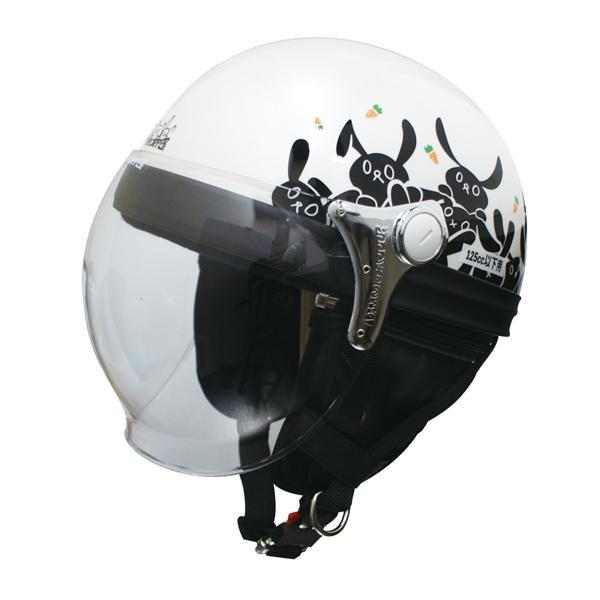 【最大ポイント20倍】【送料無料】ダムトラックス(DAMMTRAX) カリーナ ハーフ ヘルメット WHITE/RABBIT