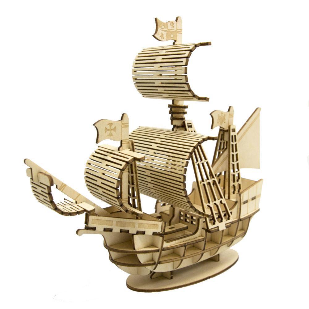 【クーポンあり】Wooden Art ki-gu-mi 帆船 作って、飾ってお楽しみください。
