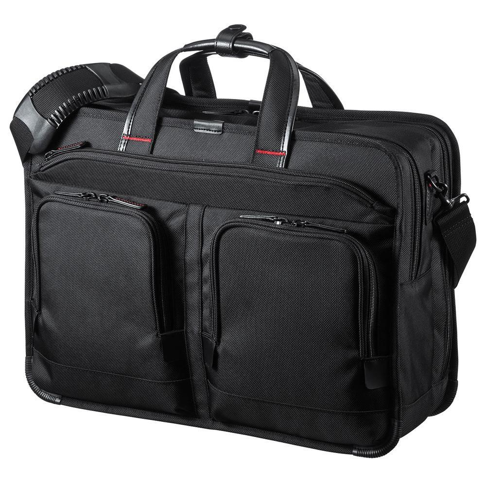 【クーポンあり】【送料無料】サンワサプライ エグゼクティブビジネスバッグPRO 大型ダブル BAG-EXE9 軽量で高級感のある仕上げのビジネスバッグ。