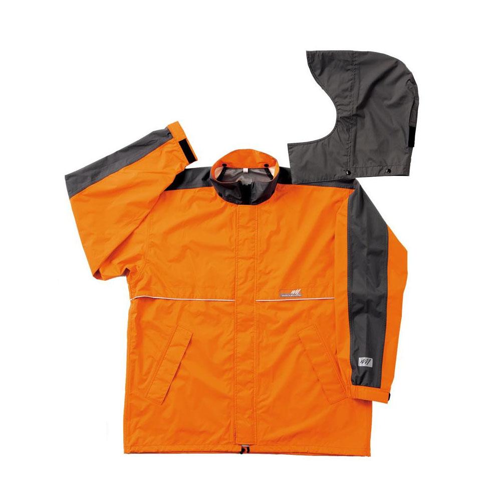 【クーポンあり】【送料無料】スミクラ ワールドマーチ レインジャケット J-605WMオレンジ EL 東レの透湿素材を使用したレインウェアです。