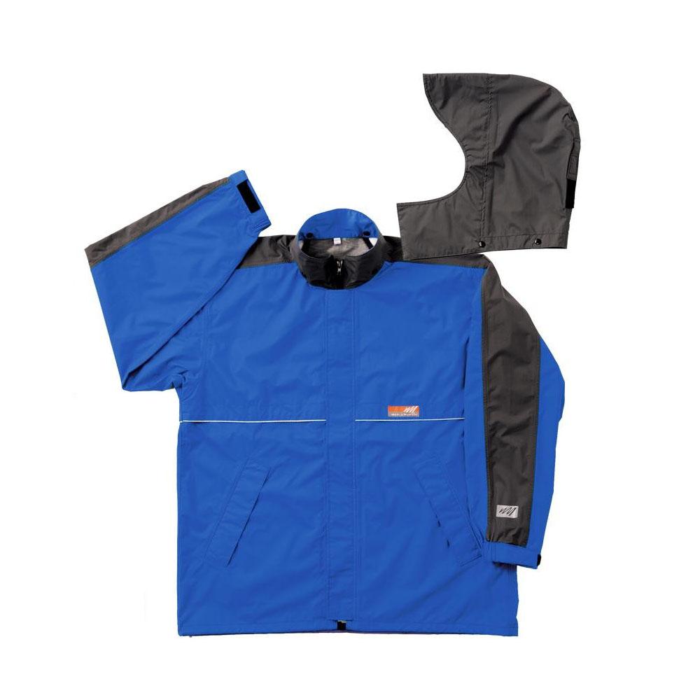 【クーポンあり】【送料無料】スミクラ ワールドマーチ レインジャケット J-605WMブルー M 東レの透湿素材を使用したレインウェアです。