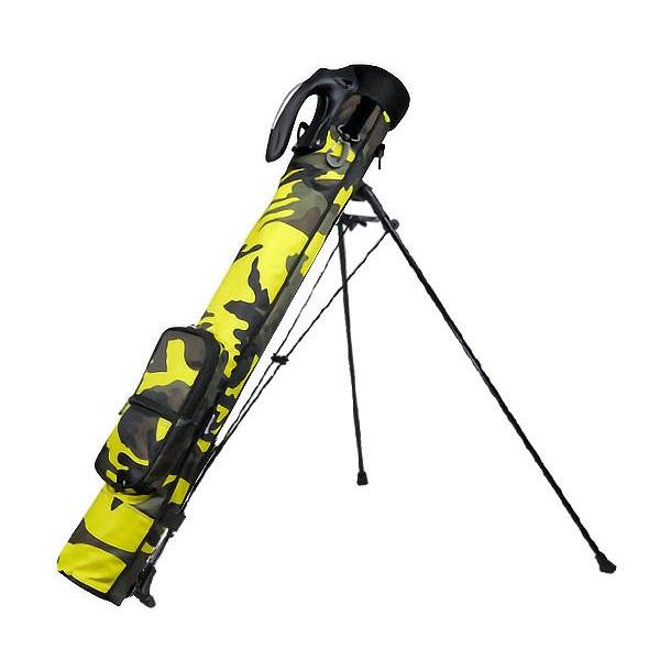 【クーポンあり】【送料無料】AZROF(アズロフ) セルフスタンドバッグ(クラブケース) アーバンカモイエロー 113 ゴルフクラブの持ち運びラクラク♪