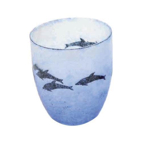【クーポンあり】月夜野工房 カーブグラス 海の詩 05W-057 絵画のように表情豊かなグラス