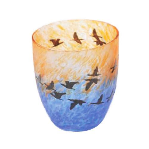 【クーポンあり】月夜野工房 カーブグラス 旅立ち 05W-058 絵画のように表情豊かなグラス