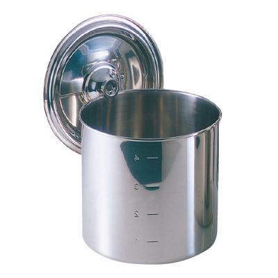 【クーポンあり】EBM モリブデン キッチンポット/寸胴鍋(目盛付)18cm 手無 8822400 目盛り付きで便利なキッチンポット