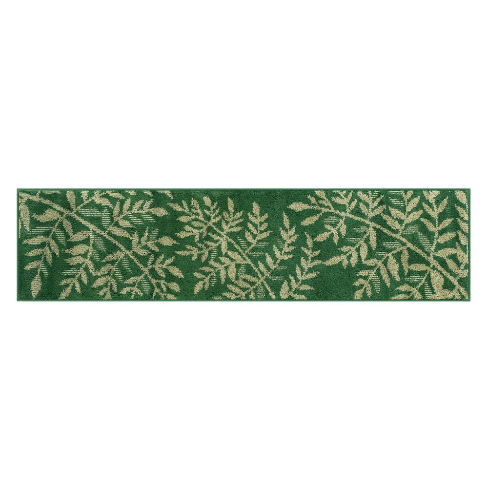 【クーポンあり】SENKO(センコー) ルクール キッチンマット 約45×180cm グリーン 354944 植物がモチーフのキッチンマット!