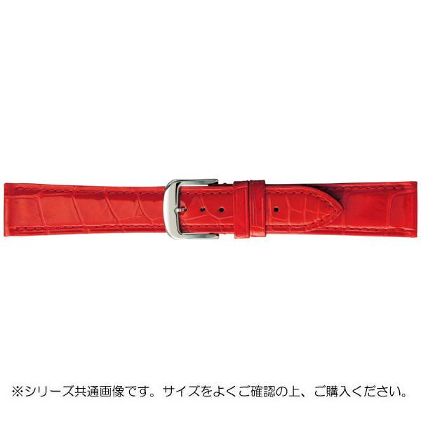 【クーポンあり】【送料無料】BAMBI バンビ 時計バンド グレーシャス ワニ革 赤(美錠:白) BWA005RP