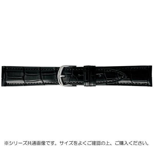 【クーポンあり】【送料無料】BAMBI バンビ 時計バンド グレーシャス ワニ革 黒(美錠:白) BWA019AS
