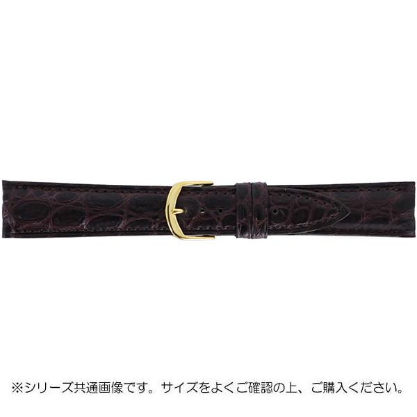 【送料無料】BAMBI バンビ 時計バンド グレーシャス ワニ革 チョコ(美錠:金) BWA021BR 時計ベルトの交換に!