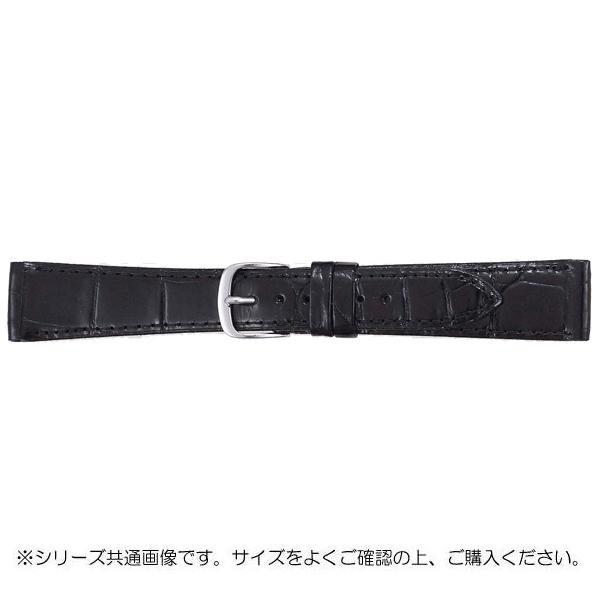 【クーポンあり】【送料無料】BAMBI バンビ 時計バンド グレーシャス ワニ革 黒(美錠:白) BWA212AS