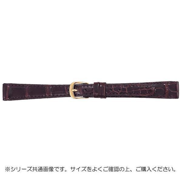 【クーポンあり】【送料無料】BAMBI バンビ 時計バンド グレーシャス ワニ革 チョコ(美錠:金) BWA512BL