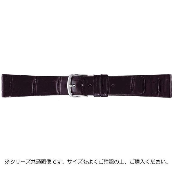 【クーポンあり】【送料無料】BAMBI バンビ 時計バンド グレーシャス ワニ革 黒(美錠:白) BWA081AP