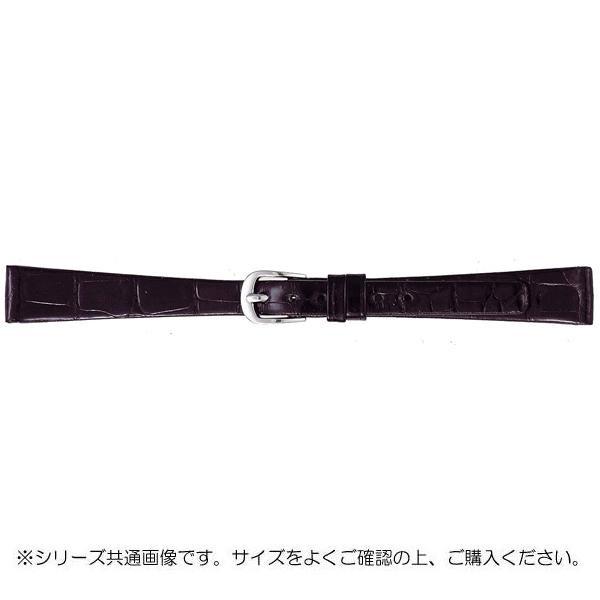 【クーポンあり】【送料無料】BAMBI バンビ 時計バンド グレーシャス ワニ革 黒(美錠:白) BWA702AL