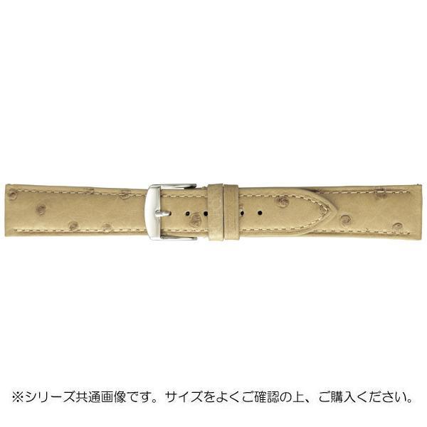【クーポンあり】【送料無料】BAMBI バンビ 時計バンド エルセ オーストリッチ革 アイボリー(美錠:白) SDA006HS