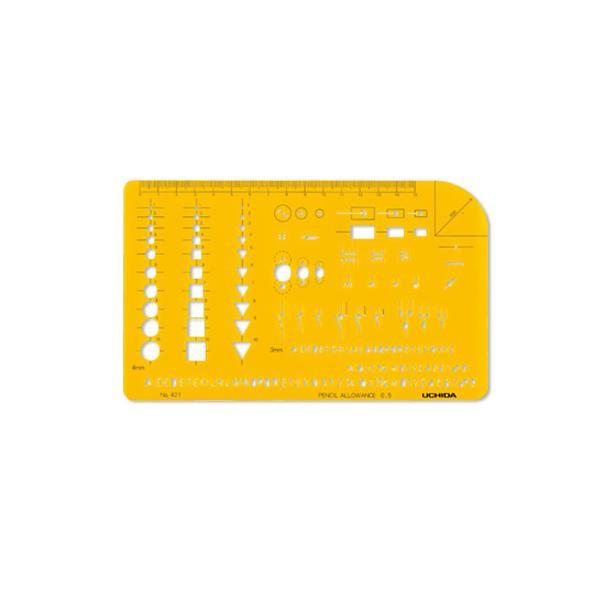 柔軟で割れにくく 透明度も高いテンプレートです クーポンあり テンプレート セール 激安特価品 電気記号定規 012-0004 No.421