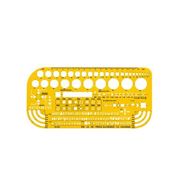 柔軟で割れにくく 透明度も高いテンプレートです クーポンあり テンプレート 爆安プライス 012-0006 オンライン限定商品 No.861 機械記号定規