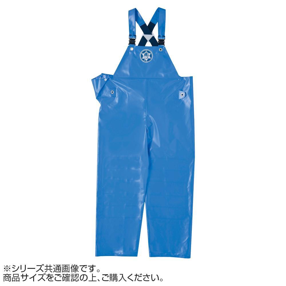 【クーポンあり】【送料無料】弘進ゴム マリンキング 胸付ズボン H スカイ L G0537AA シンプルなデザインの合羽