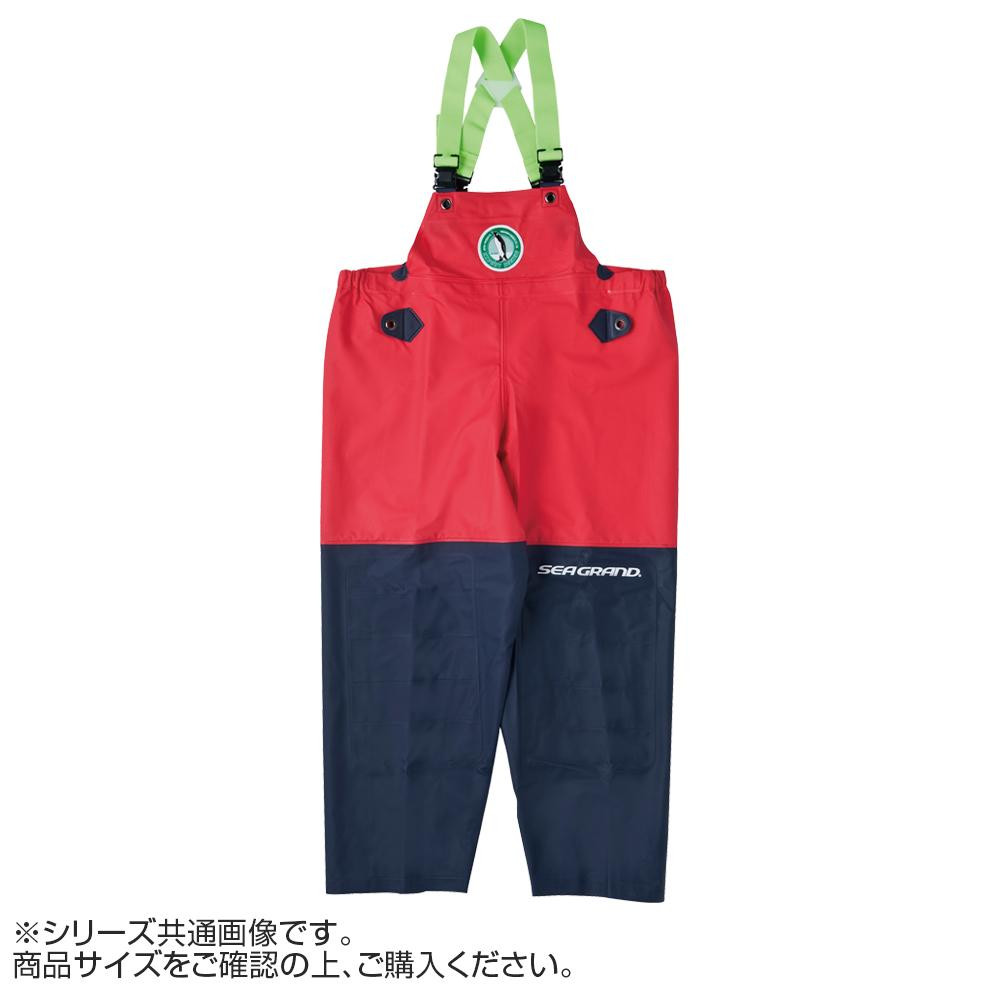 【クーポンあり】【送料無料】弘進ゴム シーグランド SG-01 胸付ズボン レッド 3L G0580AB 作業用の合羽
