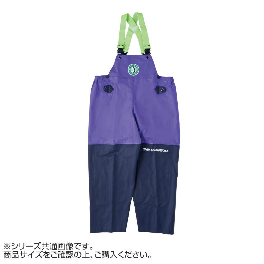 【クーポンあり】【送料無料】弘進ゴム シーグランド SG-01 胸付ズボン パープル M G0580AC 作業用の合羽