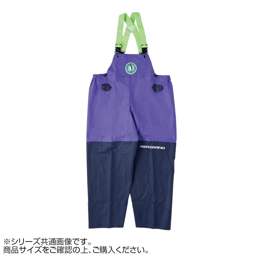 【クーポンあり】【送料無料】弘進ゴム シーグランド SG-01 胸付ズボン パープル L G0580AC 作業用の合羽