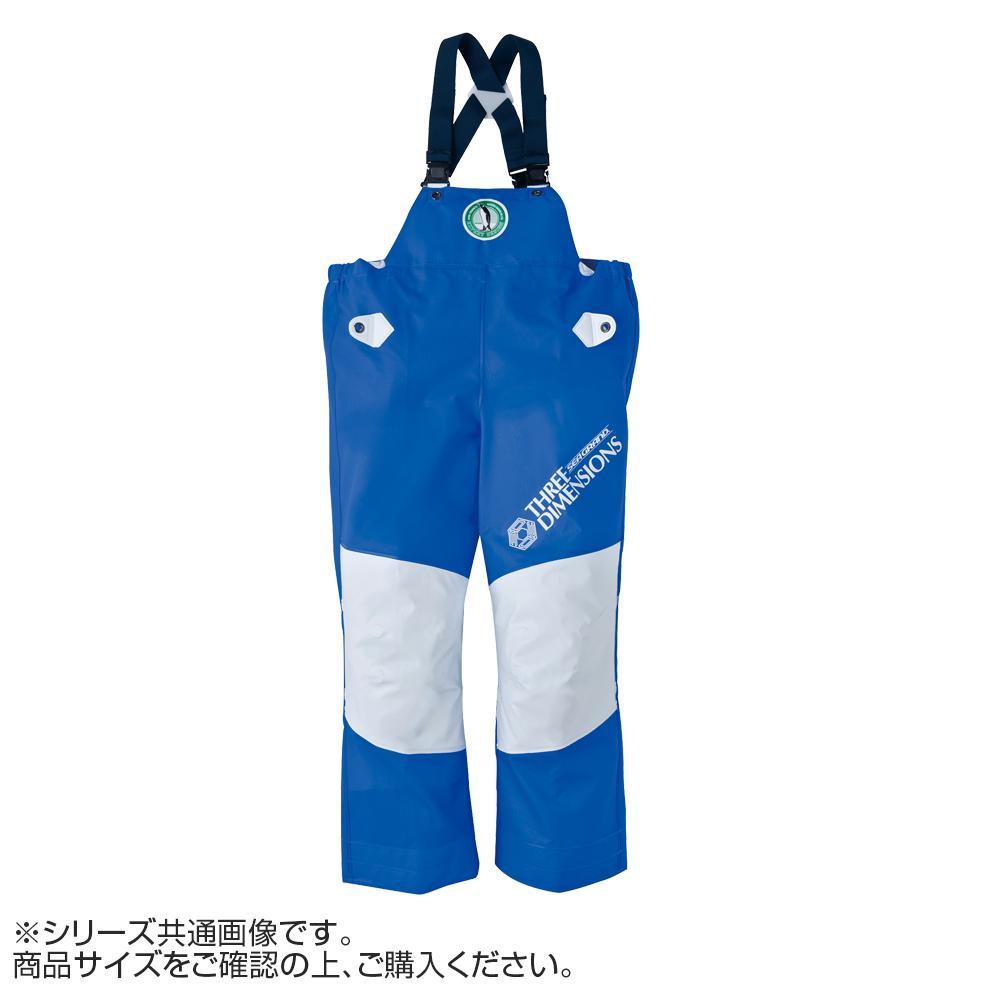 【クーポンあり】【送料無料】弘進ゴム シーグランド3D 胸付ズボン ブルー M G0580AJ 動きやすい立体構造の合羽