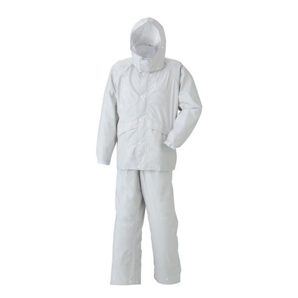 【クーポンあり】【送料無料】スミクラ レインウェア 透湿ストリートスーツ A-625 シルバー S