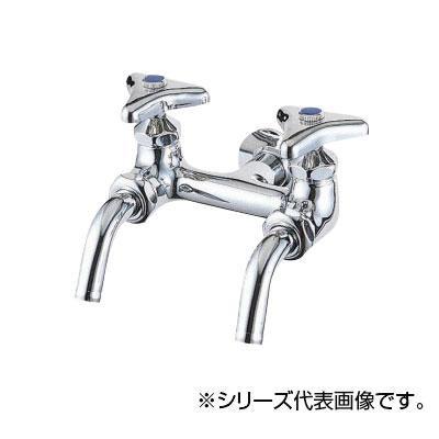 【クーポンあり】【送料無料】SANEI 二口ホーム水栓 JF13A-13 青銅製の二口ホーム水栓