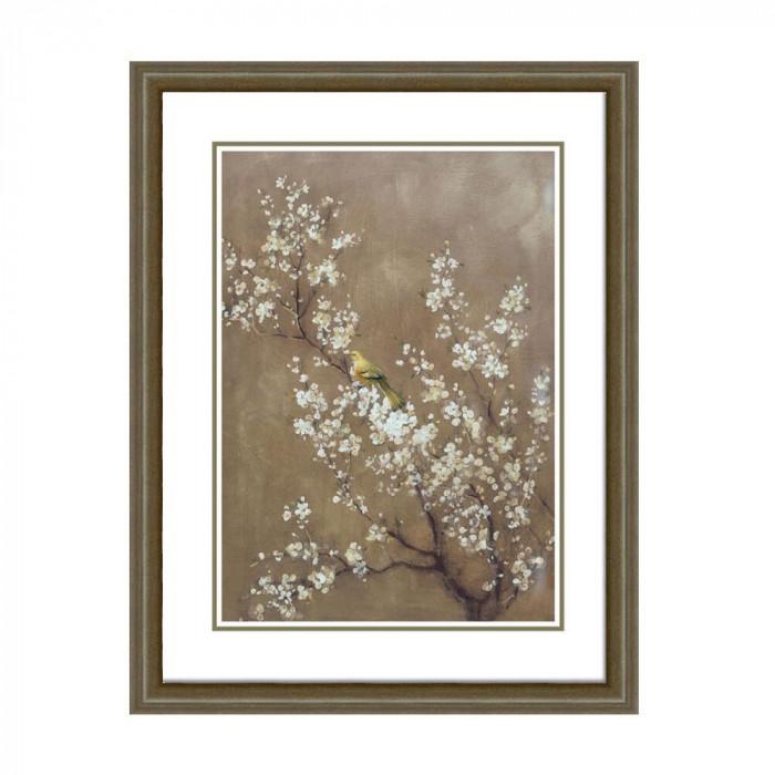 【送料無料】ウォールアートフレーム 花と鳥 HS-1159-B