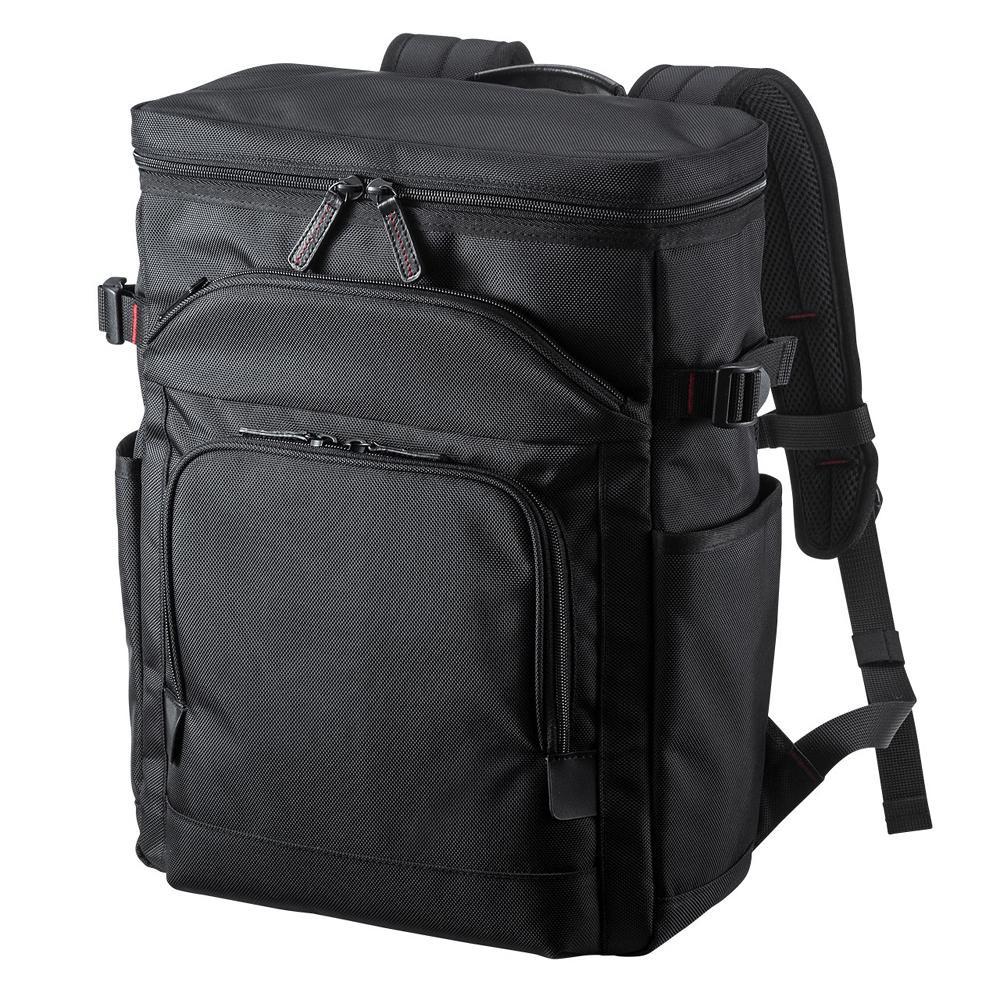 【クーポンあり】【送料無料】サンワサプライ エグゼクティブビジネスリュック 13.3インチワイド ブラック BAG-EXE10 軽量で高級感のある仕上げのビジネスリュック。