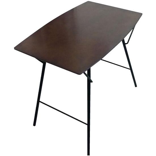 【クーポン有】【送料無料】ルネセイコウ トラス バレルテーブル750 ダークブラウン/ブラック 日本製 完成品 TBT-7550TD/洗礼されたミニマルデザインの折りたたみ式テーブル。