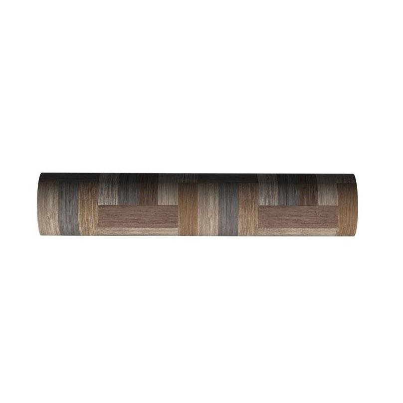 【クーポンあり】【送料無料】貼ってはがせる!床用 リノベシート ロール物(一反) ブラウン(ペンキ組み木) 90cm幅×20m巻 REN-01R