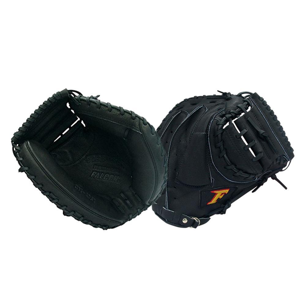 【クーポンあり】【送料無料】FALCON ファルコン 野球グラブ グローブ 軟式一般 捕手用 キャッチャーミット ブラック CM-4261 『親指革命』が捕球をサポート!!